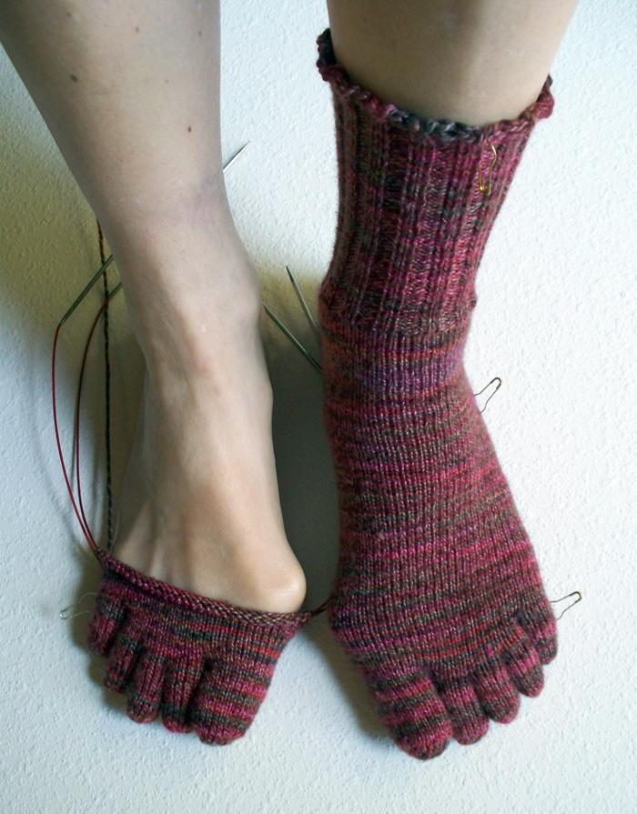 Knitting Pattern For Toe Socks : J.C. Briars Blog